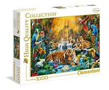 Clementoni Puzzle 1000 Teile Geheimnisvolle Tiger (39380)