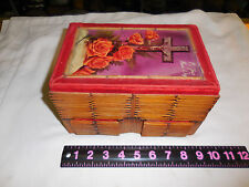 VINTAGE PRISON ART MATCH STICK  BOX 2 DRAWERS & INSIDE COMPARTMENT