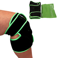 Inerzen Knee Support Hot and Cold Gel Therapy Wrap - Reusable Gel Pack Included