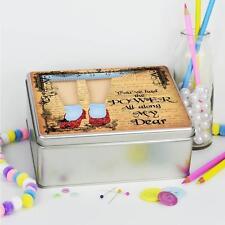 Mago de oz Rubí Zapatos Dorethy Kit de costura Tin Hobby Craft dulces caja regalo NC704