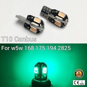 T10 W5W 194 168 2825 175 Parking marker corner Light Green Canbus LED M1 M
