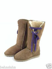 kookaburra New women sz 7 Sheepskin sexy tanTall Boots new on sale agges