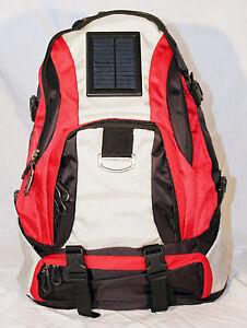 Solar charging back pack rucksack inc. battery & connectors camping festival