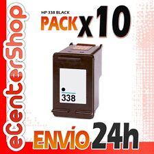 10 Cartuchos Tinta Negra / Negro HP 338 Reman HP PSC 1510 24H