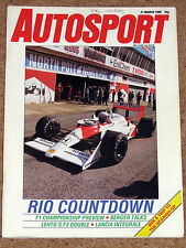 Autosport 31/3/88* F1 SEASON PREVIEW - HILL, BERGER & ELLEN LOHR INTERVIEWS