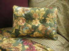 NEW Custom Ralph Lauren Edgefield Floral Accent Pillow 2 Button