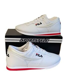 New FILA Machu Womens Shoes Red/White/Blu Casual Retro Classic Sneakers US 9 NIB