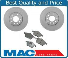 00-05 Saturn L100 L200 L300 Sedan Wagon (2) Front Brake Rotors & Ceramic Pads