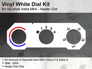 Vauxhall Astra Mk4 / Zafira A (1998 - 2004) Heater Dial - Vinyl White Dial Kit