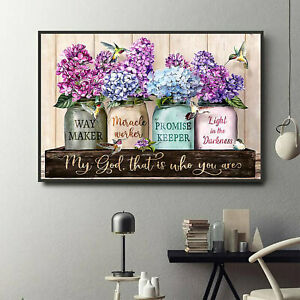 Purple Waymaker Flowers Poster - bible, love the bible, christian, Paper
