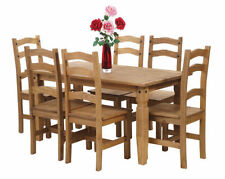 Pine Dining Tables Sets 7 Pieces