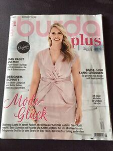 Burda plus F/S 2017 Zeitschrift Nähen Rarität