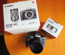 Canon EOS M5 camera and 22mm Lens With Very Low Use In Excellent Condition.