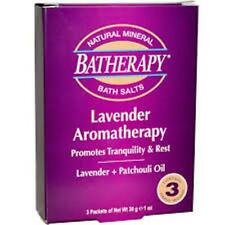 Batherapy Natural Mineral Bath Salts - Lavender - 1 oz/3 ct  (3 PACK)