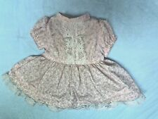 "TINY TEARS PINK & WHITE DRESS FOR 13-15"" DOLLS,  QUALITY SEWING, VERY NICE!"