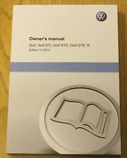 VW GOLF VII MK7 GTI GTD R GTE HANDBOOK OWNERS MANUAL 2013-2017 BOOK print 2014