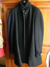 RARE CHANEL CLASSIC BLACK WOOL JACKET, COAT OR  SWING COAT  SIZE 38