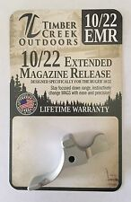 NEW! RUGER 10/22 EXTENDED MAGAZINE RELEASE LEVER ANODIZED SILVER - 10/22 EMR