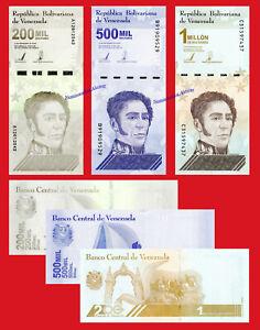 VENEZUELA SET 200000 500000 1000000 Bolivares 2020 (2021) Pick NEW  SC / UNC