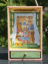 "Sankyo Little Grey Rabbit Music Box Uttley ""All The Birds Are Already There"""