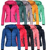 Navahoo Damen Winter Jacke FVSD Steppjacke Kapuzenjacke warm gesteppt wasserabwe