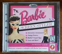 Barbie Screen Styler PC CDROM 1997 Windows 3.1 95 Video Game NEW Sealed JC