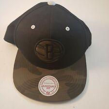 Brooklyn Nets Snapback Hat Black/Camo Mitchell And Ness