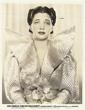"KAY FRANCIS ""Give me your Heart"" Original Vintage Photograph 1936 PORTRAIT"