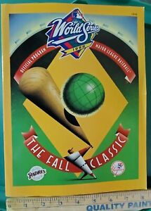 1998 World Series Program MLB The Fall Classic NY Yankees vs San Diego Padres