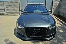 Cup Spoilerlippe schwarz für Audi A6 4G Lippe Front Diffusor Ansatz schwert vorn