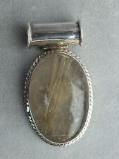 925iger Silber Rutilquarz Anhänger (001)
