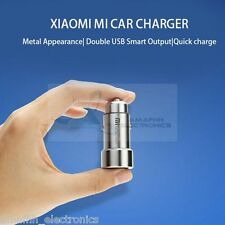 XIAOMI 2.4 Amp Dual USB Metal Fast Car Charger Adapter for iPhone 7 Plus 5.5""