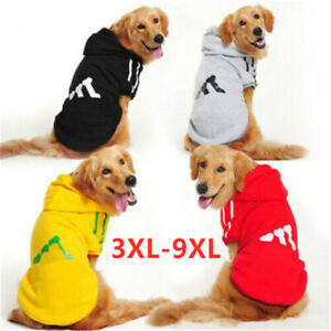 3XL-9XL Large Extra Big Dog Jacket Warm Clothes Pet Clothing Puppy Hoodie Coat