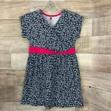Tea Collection Faux wrap Sleeveless Floral Girls Size 4 Print Dress