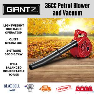 NEW Leaf Blower Vacuum 36cc Petrol 2-stroke Hand Fuel Vac Outdoor Garden Yard AU