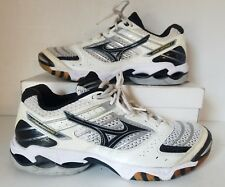 Mizuno Wave Lightning 7 Volleyball Sneaker White/Black Women Sz 9.5M