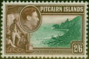 Pitcairn Islands 1940 2s6d Green & Brown SG8 Fine MNH Stamp