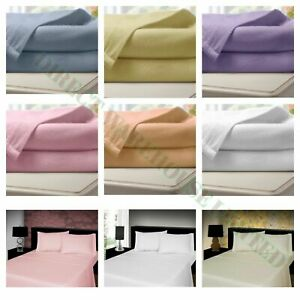 100% Brushed Cotton Fitted Bed Sheet 25cm,Flannelette Thermal Sheets In All Size