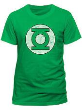 Official Green Lantern - Distressed Logo -  Men's Green T-Shirt