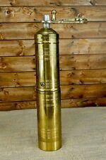 Vintage Kahve Brass Coffee Grinder Cylinder Decor Degirmeni Turk Mali Turkey