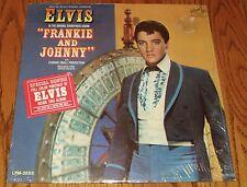ELVIS PRESLEY FRANKIE & JOHNNY LP  with Sticker & Photo