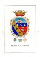 Araldica stemma araldico della famiglia Cappellini di Livorno