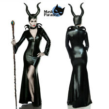 Costume Carnevale Maleficent Strega Malefica Maschera travestimento Halloween