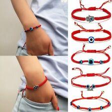 Lucky Evil Eye Beaded Bracelet Rope String Braided Bangle Jewelry Gift GOOD LUCK