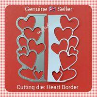 Metal Cutting Die -  HEART BORDER - LOVE - VALENTINE - Embossing - Crafting