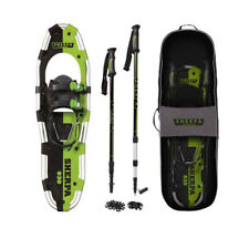 "Yukon Charlie's Sherpa 9"" x 30"" Hiking Snowshoe Kit w/ Poles & Bag, Green"