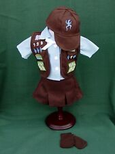 BROWNIE UNIFORM Outfit SKIRT VEST BLOUSE BEANIE + SOCKS for American Girl DOLLS