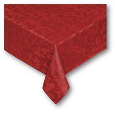 Tovaglia Jacquard rossa Natale cm 90x90 140x180 140x240 rotonda NO STIRO mod.ETJ