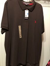 MENS Large U.S. POLO ASSN. POLO SHIRT Black Size XL With Red Pony short sleeve