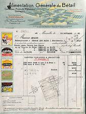MARSEILLE FACTURE ALIMENTATION BETAIL NEOGUM AMOLINI THONON 1931